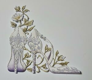 10 X Carnation crafts die cuts - Fairy-Tale Day - Shoes - wedding / prom etc