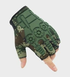 Outdoor Half Finger Gloves Tactical Shooting Gloves Hard Knuckle Army Gloves