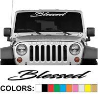 "Blessed Windshield Decal Sticker ""script"" Diesel Turbo Car Truck UTV rzr Race"