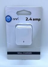 ONN 2.4 amp white Wall Charger compatable with all USB charging cables NEW