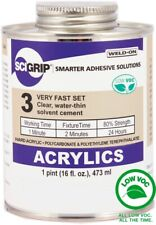 Scigrip Weld On 3 Adhesive 16 Oz Pint With Applicator Bottle And Needle