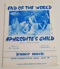 Partition vintage sheet music APHRODITE'S CHILD : End of the World * 60's