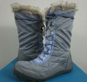 Womens 6.5-7-7.5-8-8.5 Columbia Minx Mid III Sante Fe Winter Insulated Boots Sky