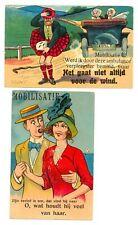 NEDERLAND 5 x SPOT AK - EERSTE W.O. MOBILISATIE F/VF