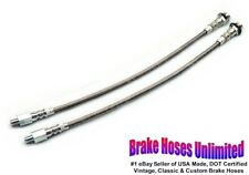 STAINLESS FRONT BRAKE HOSES Ford Galaxie 1963 1964 1965 1966, Drum