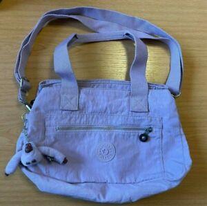 Kipling Lavender Lilac Over the Shoulder Bag Thalita Monkey Keyring