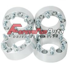 "4PC 2"" 6x5.5 Wheel Spacers Adapters 14x1.5 Studs for Chevy Silverado 1500 Tahoe"
