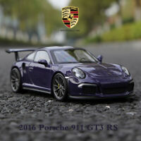 New Arrival Purple 2016 Porsche 911 GT3 RS Super Sports Car in 1:24 Scale WELLY