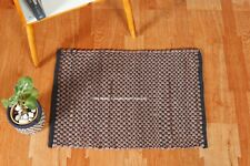 Non Slip Washable Brown & Black Door Mat Indoor Outdoor Kitchen Carpets Woven