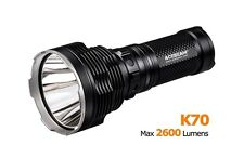 Acebeam K70 2600 Lumens Flashlight CREE XHP35 HI LED 1300m Beam Distance Black