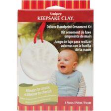 SCULPEY KEEPSAKE  - Oven-Bake Clay Kit - Deluxe Handprint Ornament