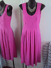 METALICUS pink fucsia pleated dress free size s m l xl FREE POSTAGE for 5 ITEMS