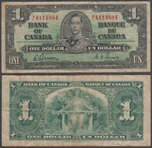 Canada - George VI, 1 Dollar, 1937, VF+, P-58
