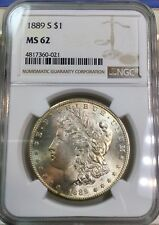 1889-S Morgan Silver Dollar, NGC MS-62! BU Uncirculated. $300 Value!