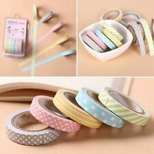 DIY  Paper Dots Decorative Sticker Striped 5PCS/Lot Washi Tape  Candy Color Cute