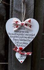 Valentine Heart-fille Cadeau De Maman/Papa-Personalised Handmade coeurs