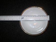 """White and Gold Cereal Bowl  Size 6.5"""" X 4"""