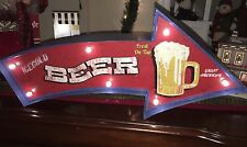MAN CAVE BEER SIGN LED Metal Sign Vintage Look. PERFECT FOR GAME ROOM/MAN CAVE