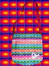 A128✪ 60er 70er Jahre Kult rainbow Peace Tasche Woodstock Festival Hippie bunt