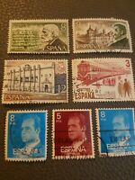 7 X Spanish Espania Correos Postage Stamps international collectable collectors