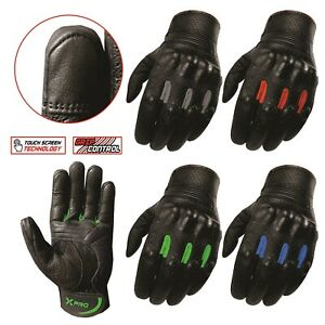 XPRO Motorcycle Leather gloves Motorbike Biker Off Road Touring Value 4 money