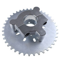 Silver CNC Adapter 40T Multifunction Sprocket 415 Chain 66cc 80cc Motorized Bike