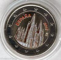 España 2 Euros 2012 @@ CATEDRAL DE BURGOS @@ ESMALTADA @@ coloreada