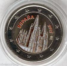 Espagne 2 Euros 2012 @@ CATHÉDRALE BURGOS @@ Émaillé @@ colorée