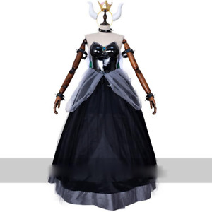 Bowsette Princess Bowser Peach Saber Lily Cosplay Costume Dress Complete Set