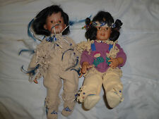 Hamilton Indian Porcelain Doll Lot Little Eagle Desert Bloom 2867 0475A 1995 Set
