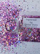 Nail Art Mixed Glitter ( Paparazzi ) 10g Bag Pink Holographic Chunky Bling