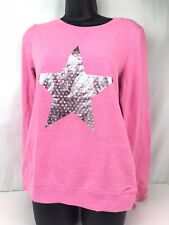 Youth GIRLS HARD CANDY PULLOVER TOP/SHIRT-SIZE L (11-13)-PINK (sj3)