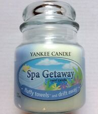 Yankee Candle SPA GETAWAY 12 oz. SWIRL JAR FLUFFY TOWELS & DRIFT AWAY RETIRED
