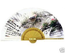 Fächer Handfächer Papier Bambus Wand Dekor China Japan