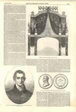 1852 tard Duc de Wellington miniature George Hayter Temple Bar décoré