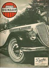 GAZETTE DUNLOP 182 1935 RECORDS DU MONDE DE VITESSE MALCOLM CAMPBELL 485KM/H