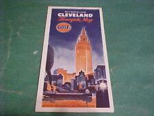 1957 GULF GAS METROPOLITAN CLEVELAND TOURGUIDE MAP