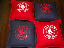 BOSTON  -  RED SOX    CORNHOLE BAGS SET OF 8   MLB   WORLD SERIES  NEW