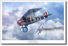 SPAD XIII - Eddie Rickenbacker by Mark Karvon - Aviation Art Prints - WWI Decor