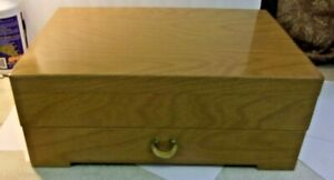 Vintage ONEIDA BLONDE Flatware Silverware CHEST with Drawer 16 x 10 1/2 x 6 1/2