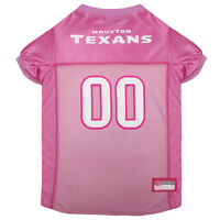 Houston Texans Licensed NFL Pets First Dog Pet Mesh Pink Jersey Sizes XS-L