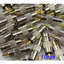 10pcs BNC Female to RCA Male Plug Adapter Connector p24