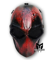 Custome Airsoft Paintball BB Gun Tactical Full Face Mask Mesh Cosplay Deadpool