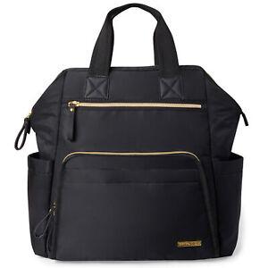 Skip Hop Mainframe Wide Open Nappy Changing Backpack - Black
