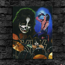 HD Print Oil Painting Wall Decor On Canvas Peter Criss Kiss 24x32inch Unframed