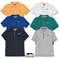 Boys Polo Shirts SLAZENGER Short Sleeved Tee Age 9 10 11 12 13 Junior Kids Top