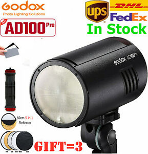 Godox AD100Pro AD100 Pro Monolight 100Ws 2.4G Flash Strobe 360° Full Power Flash