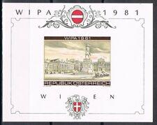 Oostenrijk 1665 1981 Wipa 1981 - sonderdruck souvenirvelletje