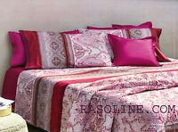 Granfoulard Bassetti Completo Lenzuola Matrimoniale Faraglioni Rosso