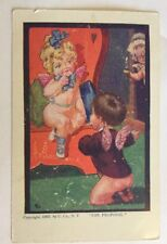 Vintage Valentine Postcard   The Proposal